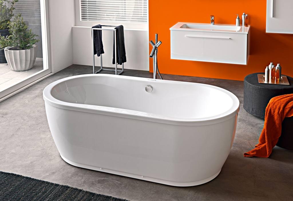 baignoire ovale acrylique libero 180x90 kolpa. Black Bedroom Furniture Sets. Home Design Ideas