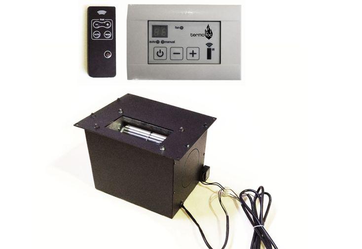 Kit de Ventilation et Boîtier de Commande pour Insert à Bois C-1000DF termofoc