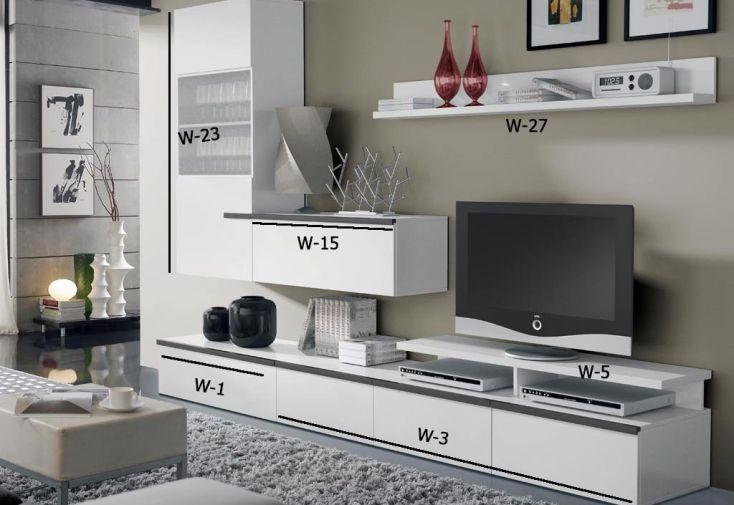 Caisson Meuble Tv 1 Porte à Fixer W-15