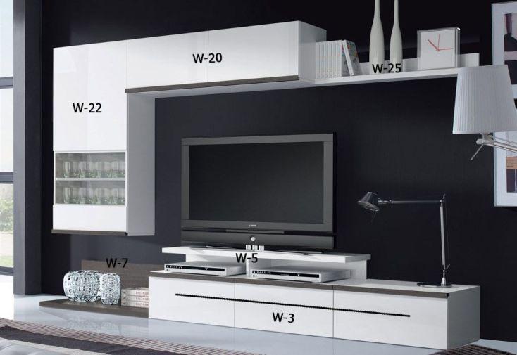 Caisson Meuble Tv 2 Portes Latérales à Fixer W-20