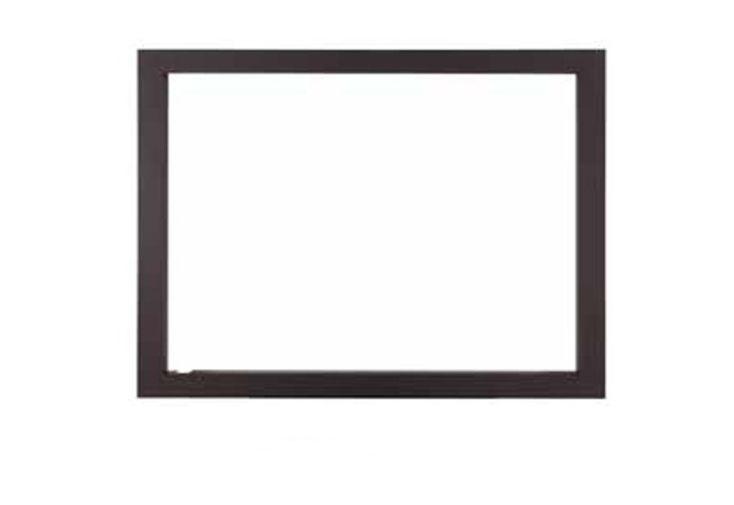 Cadre en Acier noir pour Insert Encastré C-290DF à 4 Côtés 4L 95,6 x 61,4 cm termofoc