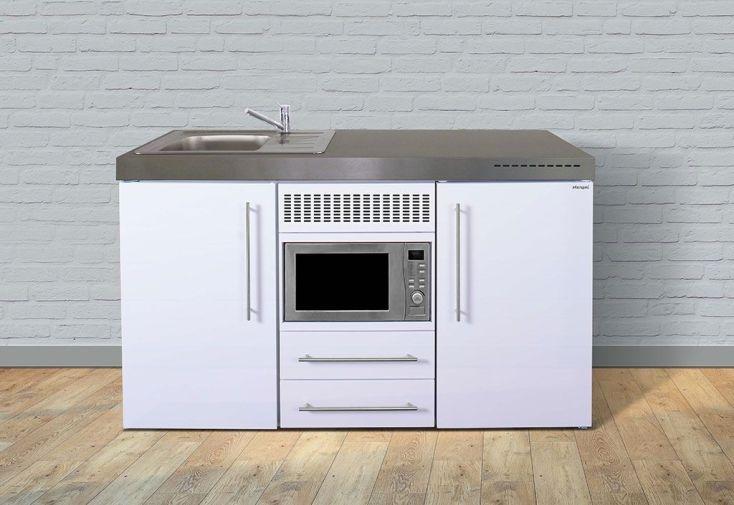 meuble cuisine en métal blanc 150 cm de large
