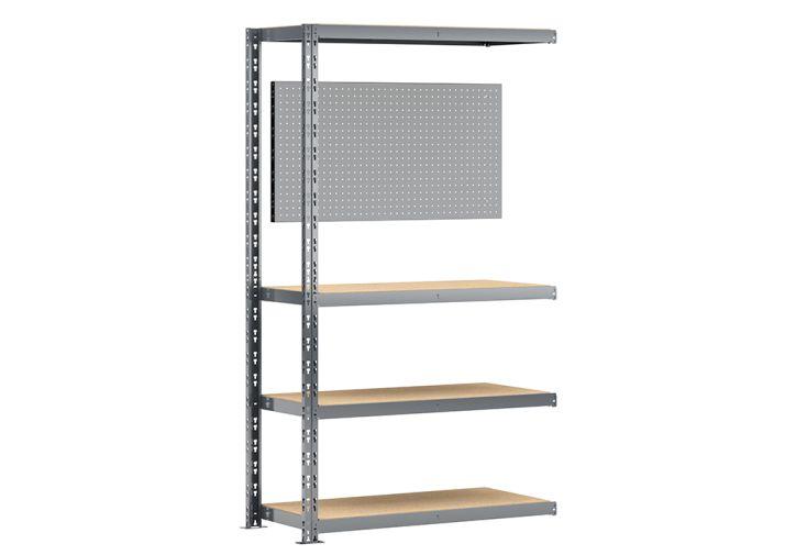 Module d'Extension E en Acier Système Extension 100 x 192 cm rayonnage métallique pur garage modulo storage