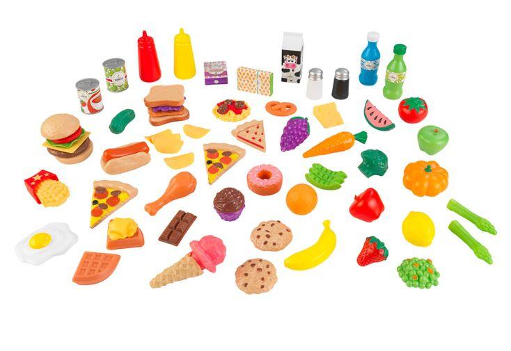 Nourriture en plastique pour dinette Kidkraft 65 aliments factices