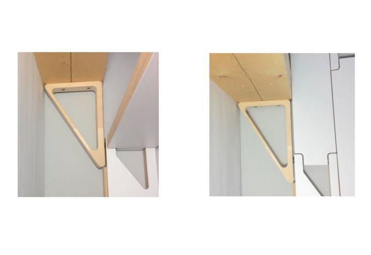 Angle de renfort en bois pour palier d'escalier pliant Klapster
