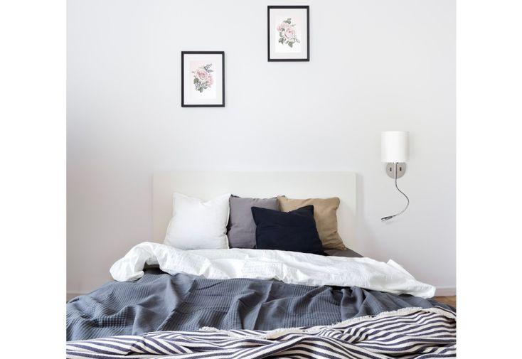 Applique Murale avec Abat-Jour Textile et Col-de-Cygne LED Rendl Light Studio Versina dans Chambre