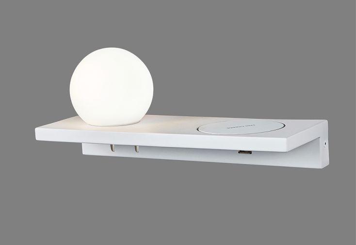 Luminaire Applique LED avec Chargeur à Induction ACB Sylvana