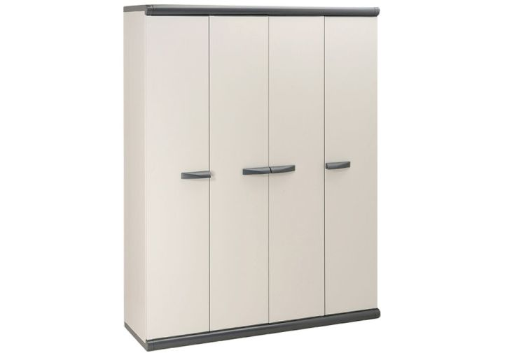 Armoire de rangement r sine 4 portes garofalo for Armoire rangement exterieur resine