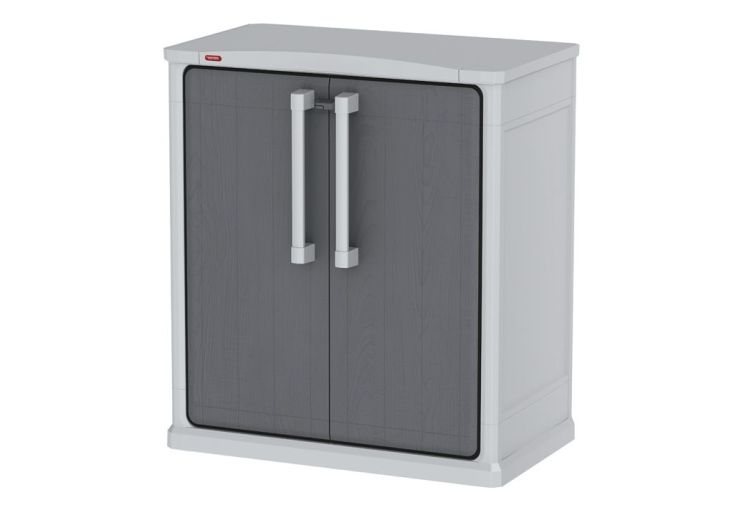 armoire de rangement basse en r sine 80x47x91cm chal t. Black Bedroom Furniture Sets. Home Design Ideas