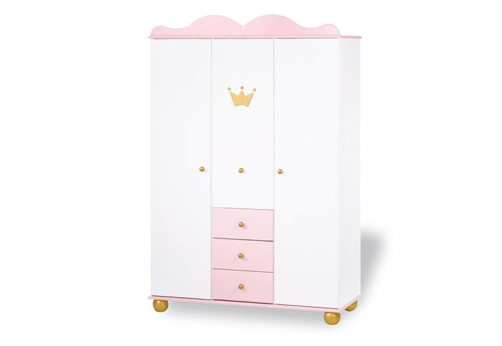 chambre d 39 enfant en pic a princess 1 lit 1 commode et 1 armoire pinolino. Black Bedroom Furniture Sets. Home Design Ideas