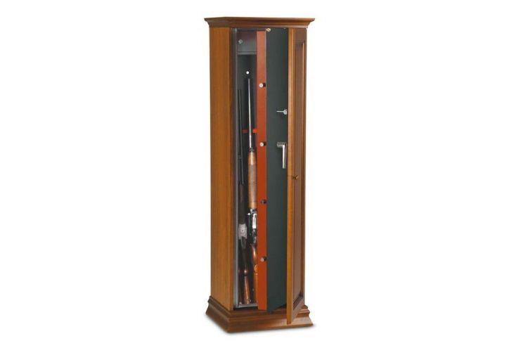 Armoire à fusils 120 litres en bois pour 5 fusils