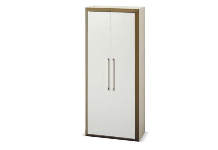 Armoire de rangement r sine haute 2 portes modulable for Armoire exterieur resine