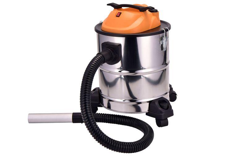 aspirateur sur roues pour cheminée cendres 1220 W contenance 20 litres Delta