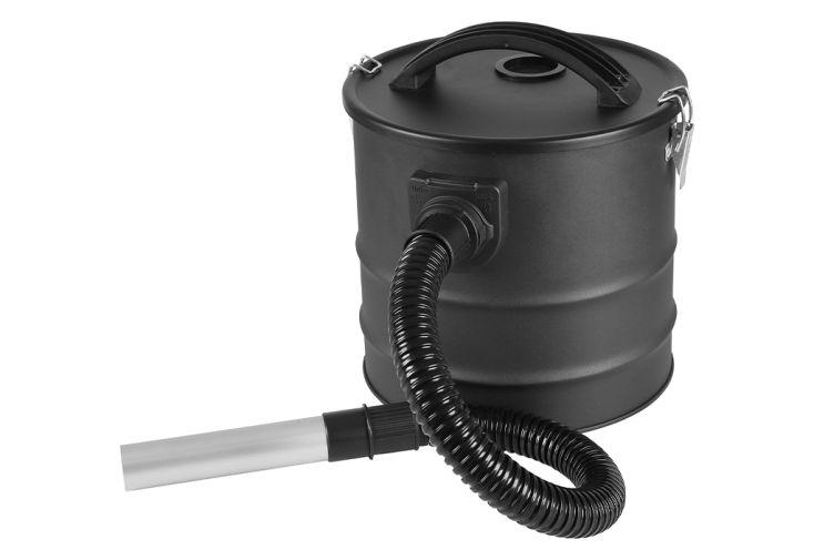 aspirateur noir à cendres et pellets pour cheminée poêle à bois Delta