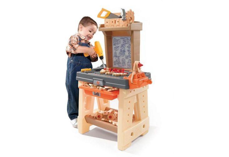 Atelier de Construction en PVC pour Enfants Beige