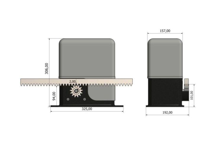 automatisme pour portail coulissant 400 kg centaurus nfi. Black Bedroom Furniture Sets. Home Design Ideas