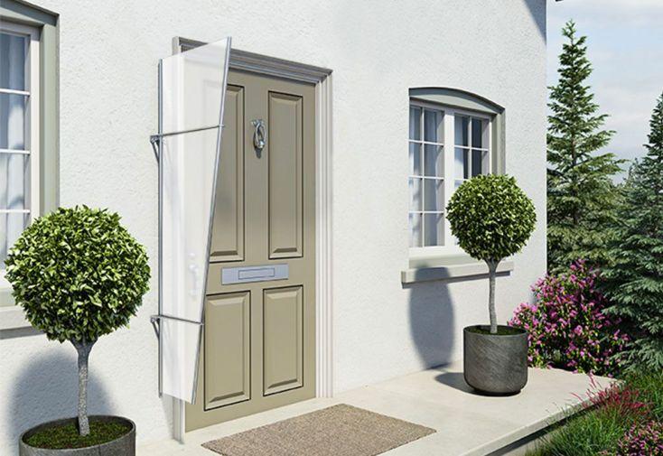 auvent lat ral pour porte d entr e acrylique aluminium. Black Bedroom Furniture Sets. Home Design Ideas