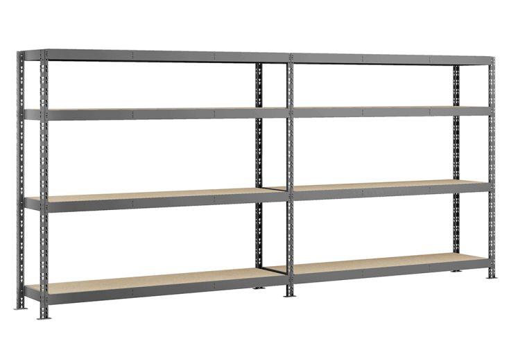 Étagère Rack en Acier avec 8 Plateaux 290 x 192 cm rayonnage pour garage modulo storage altona robbust époxy