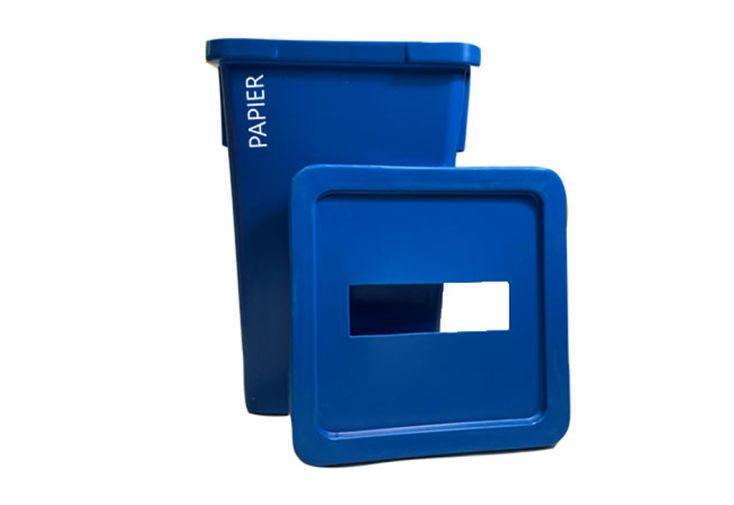 Poubelle tri sélectif en polyéthylène pour déchets papier