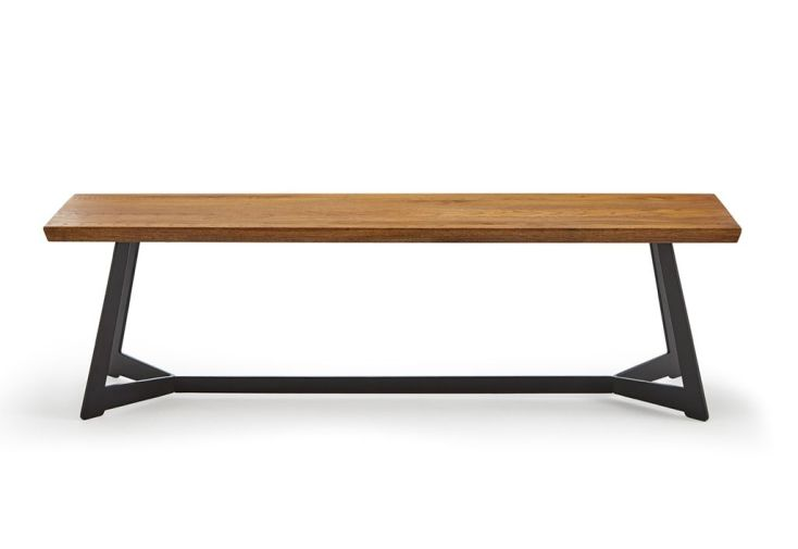 banc de salle à manger en bois avec pieds métal 160 cm
