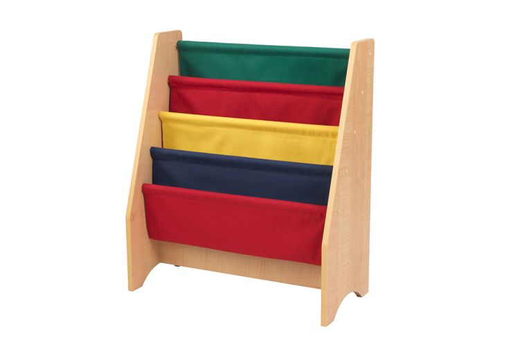 Bibliothèque pour enfants en bois et en toile
