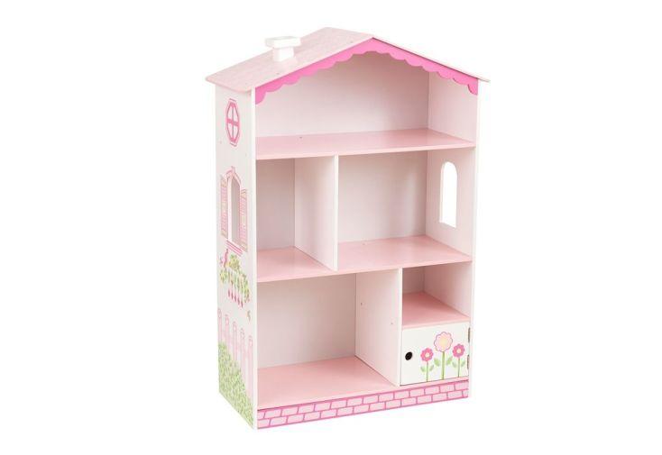 bibliothèque de rangement au style de maison de poupée