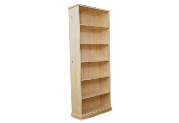 Bibliothèque en Epicéa Brut 5 Etagères
