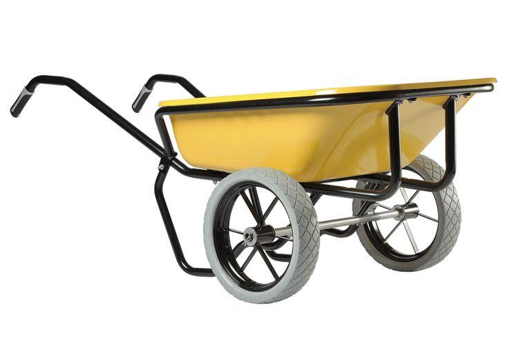 Brouette Haemmerlin avec roues increvables Expert Twin Excellium 160 L jaune
