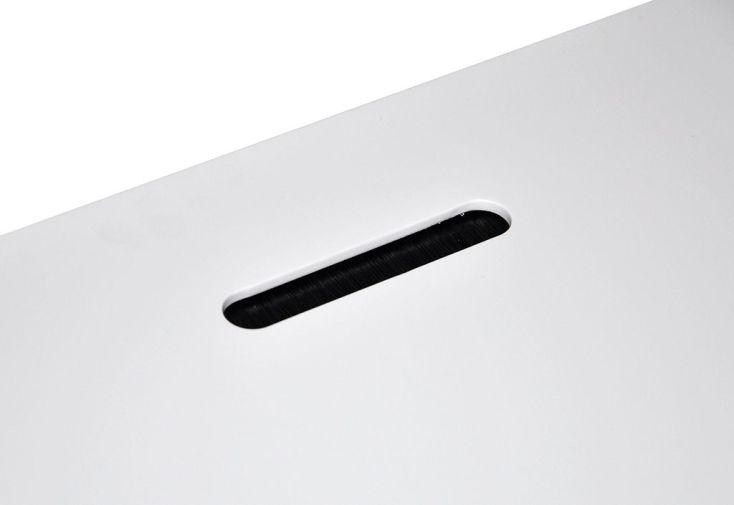 Bureau dÉcolier moderne en bois et métal blanc 105 cm bartani