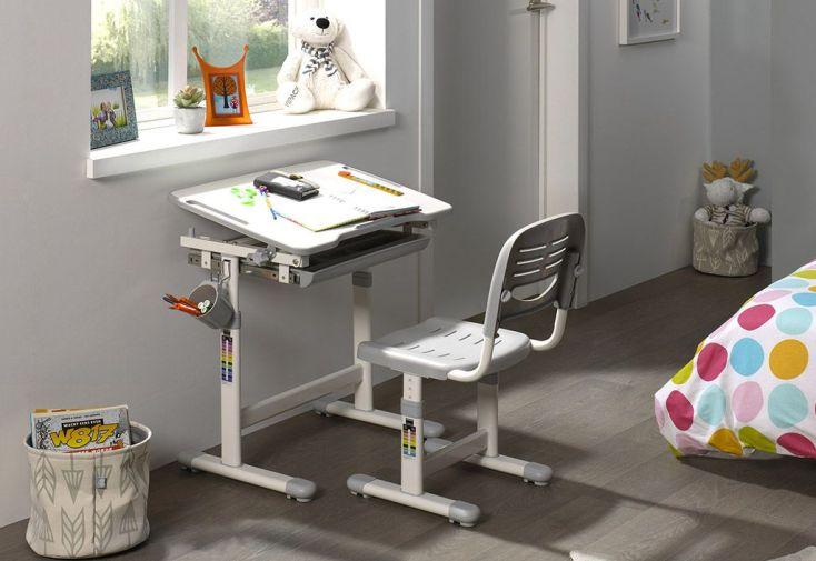 Bureau Enfant en Métal, Plastique et Bois Comfortline 201 Gris