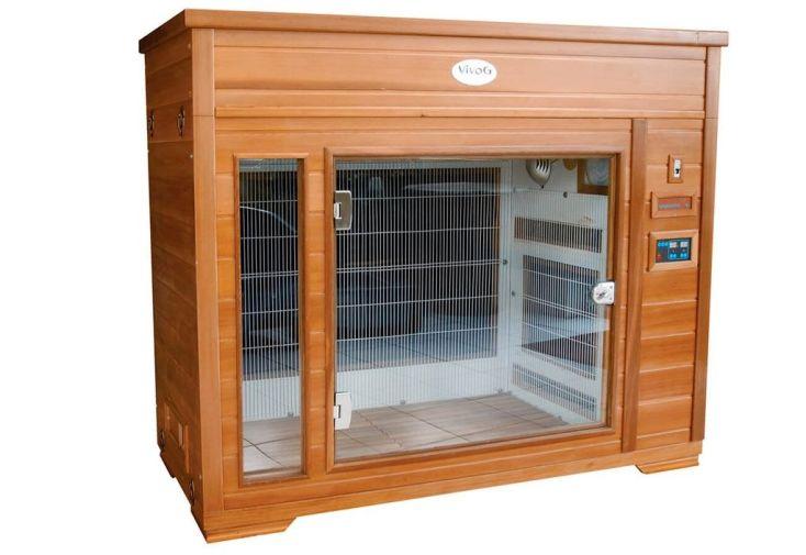 cabine de séchage infrarouge pour chien avec chromothérapie