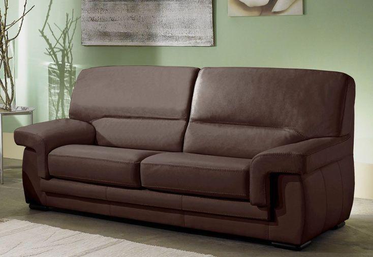 Canapé en Cuir Reconstitué 2 Places Viviane 152x88x90 - 5 coloris
