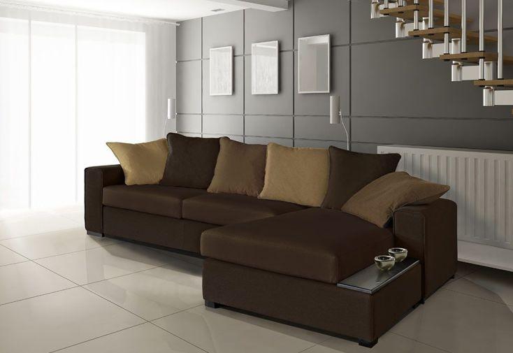 Canapé d'Angle Réversible en Tissu Kiss 255x170x86cm (l,l,h) - 5 coloris