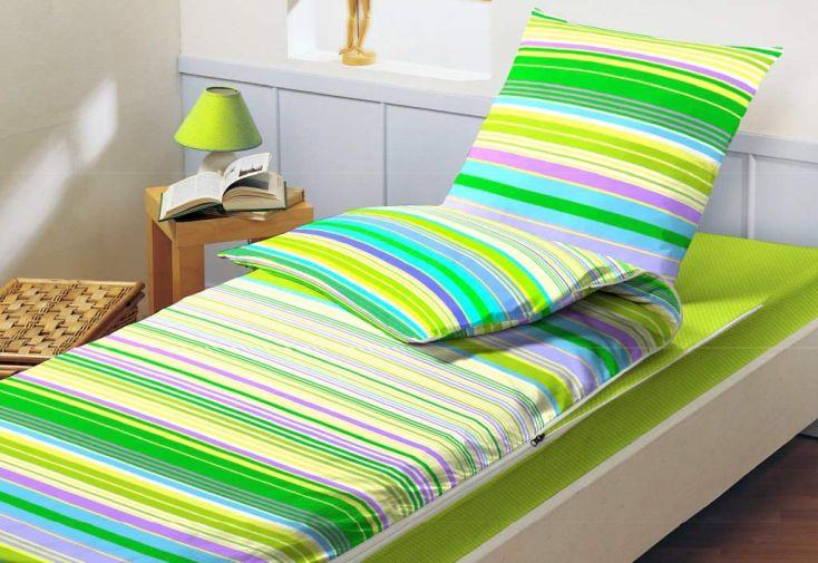 lit tout fait pr t dormir caradou 140x190cm vibration amande bleu c lin. Black Bedroom Furniture Sets. Home Design Ideas