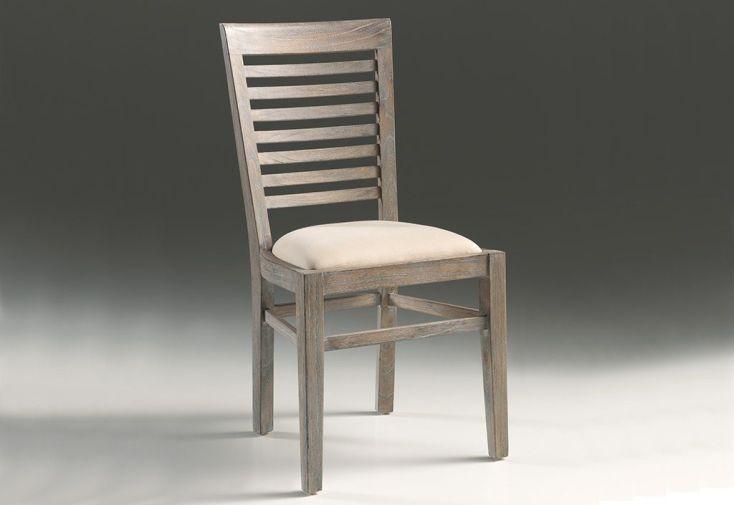 Chaise avec Coussin en Mindi Gris Bellona