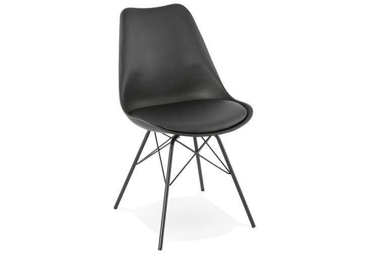 Chaise en Métal et Polypropylène Kokoon Design Fabrik Noir