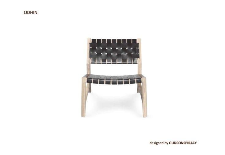 Chaise Basse en Chêne Odhin Wewood