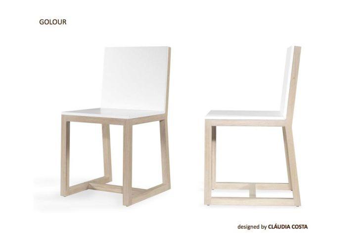 Chaise en bois golour wewood chaise color e golour wewood for Chaise bois coloree