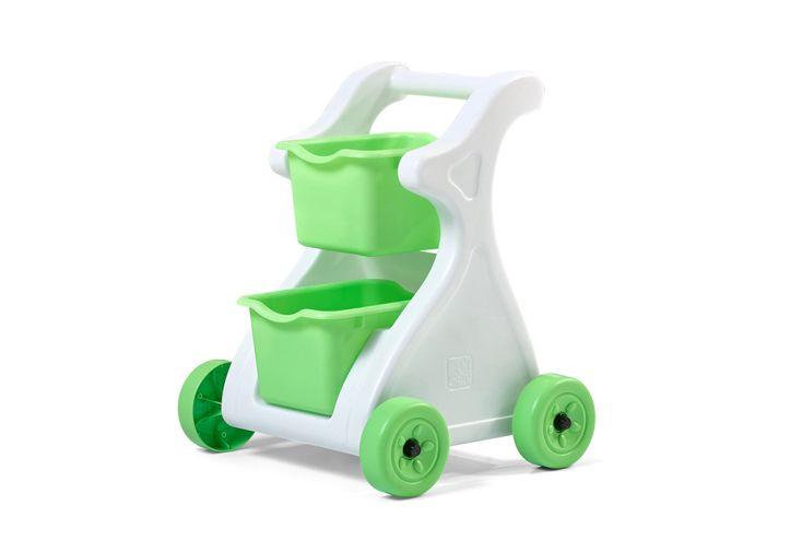 Chariot en plastique blanc et vert pour enfant Step 2