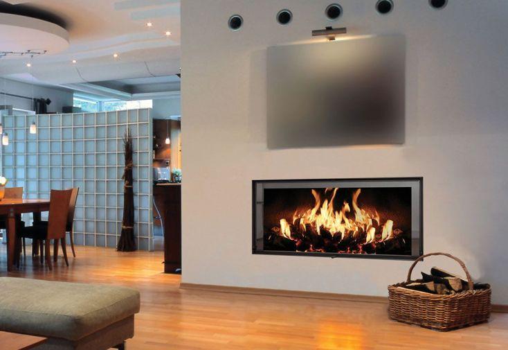 insert à bois pour cheminée intérieur 125 x 49,5 x 114 cm