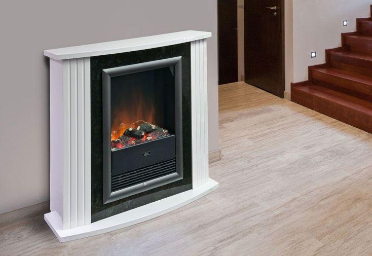 chemin e electrique d corative mozart de luxe blanche h. Black Bedroom Furniture Sets. Home Design Ideas