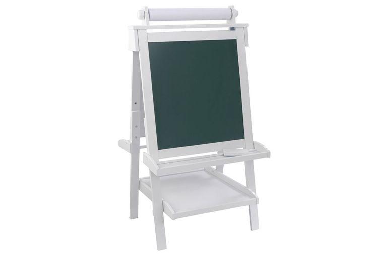 chevalet blanc en bois pour enfant avec peinture et tableau noir