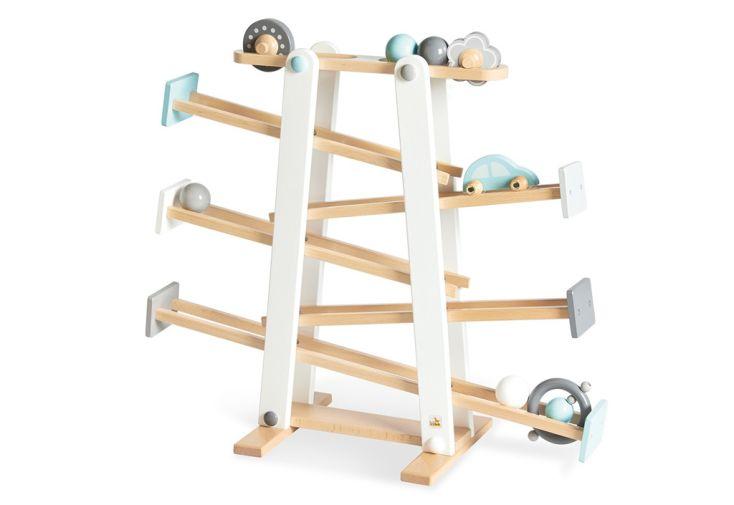 circuit en bois pour jeu de billes enfant Pinolino Kuno