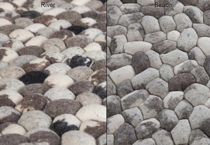 Tapis en Laine de Nouvelle-Zélande Pebble 200x300cm
