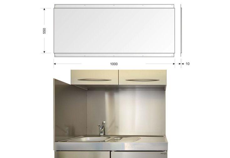 Crédence en Inox pour Cuisine 100 x 55 cm (l,h)