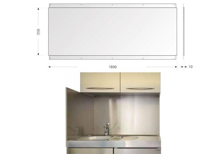 Cr dence en inox pour cuisine 160 x 55 cm l h stengel for Inox pour credence