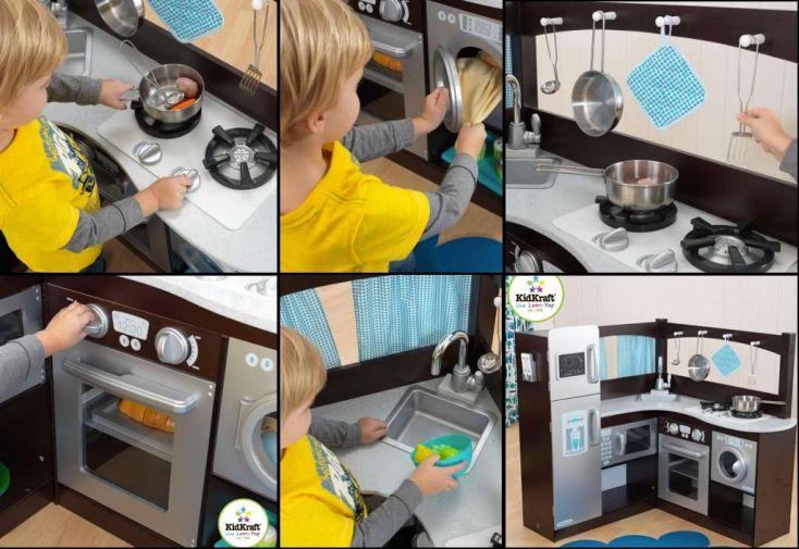 Cuisine en angle expresso et argent kidkraft - Cuisine kidkraft avis ...