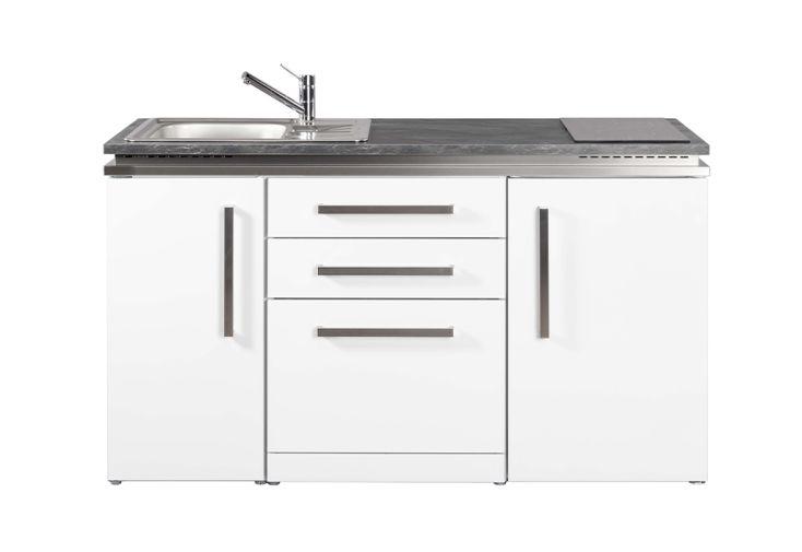 Kitchenette en métal avec un revêtement poudrée blanc