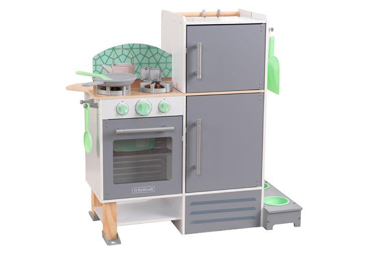 Cuisine pour enfant en bois Kidkraft 2 en 1 buanderie