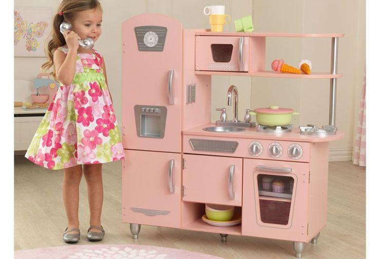 Cuisine En Bois Pour Enfants Vintage Rose 90 Cm Kidkraft